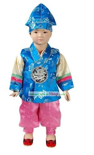 Happy New Year Korean Baby Boy Hanbok Complete Set
