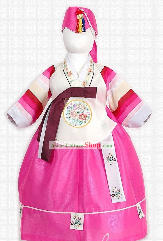 Traditional Korean Baby Birthday Hanbok Set