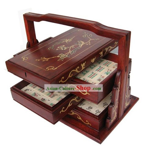 Supreme Traditional Chinese Mahjong Box and Mahjong Complete Set
