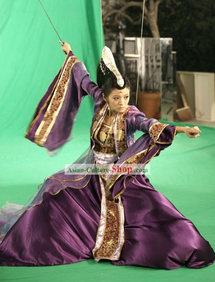 Legend of Sword and Fairy Ancient Chinese Swordswoman Costume Complete Set