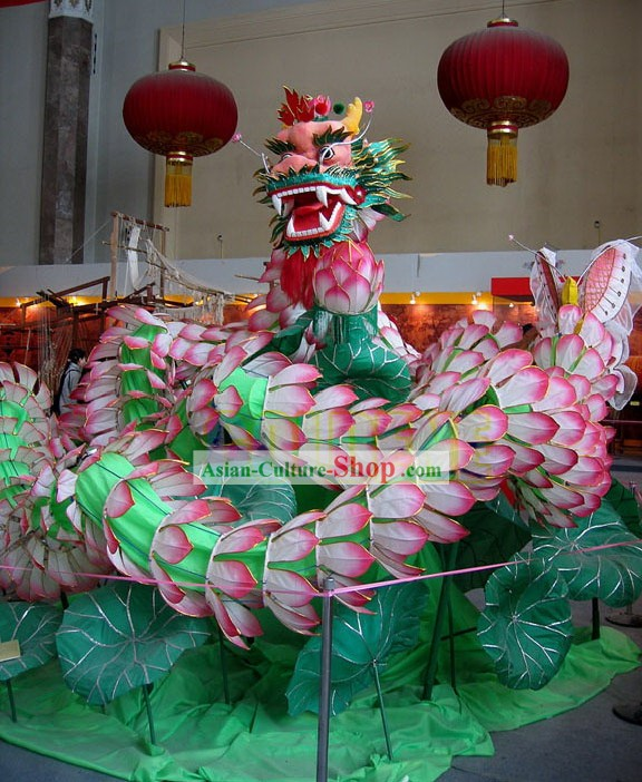Classic Traditional Lotus Dragon Dance Costume Complete Set