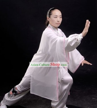 Chinese Classic Embroidered Flower Sifu Tai Chi Uniform Set
