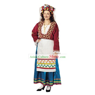 Corfu Female Traditional Greek Dance Costume