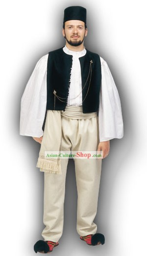 Epire Homme Costume Traditionnel danse grecque