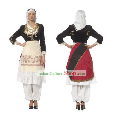 Cretan Female Ancient Greek Dance Costume