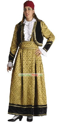 Kastoria Female Traditional Greek Dance Costumes