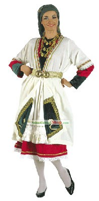 Macedonian Female Traditional Greek Dance Costume