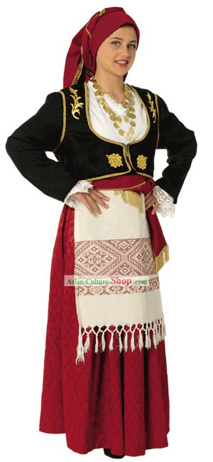 Cretan Female Traditional Greek Dance Costume