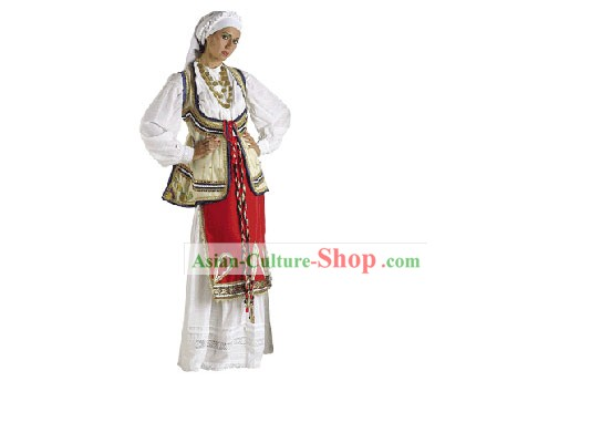Roumeli Female Traditional Dance Costume