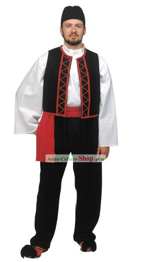 Sarakatsanos Homme Costume traditionnel grec