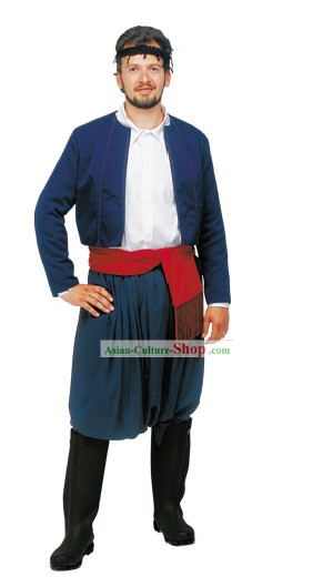 Crétois Homme Costume traditionnel grec