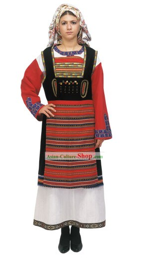 Thrace Female Traditional Greek Dance Costume
