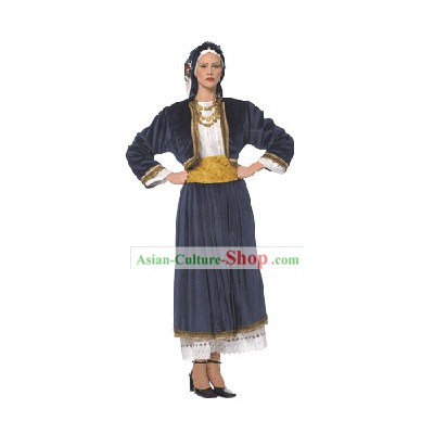 Cyclades Female Traditional Greek Dance Costume