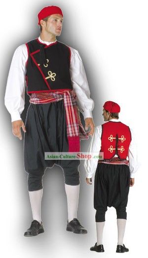 Cyclades Male Traditionelle griechische Tanz-Kostüm