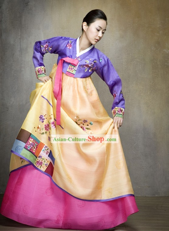 Classical Korean Palace Hanbok Complete Set for Women