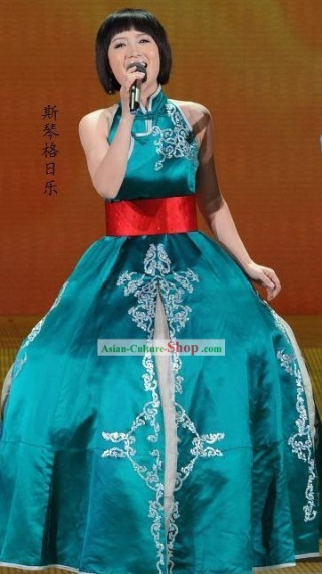 Traditional Mongolian Dance Costumes Complete Se for Women