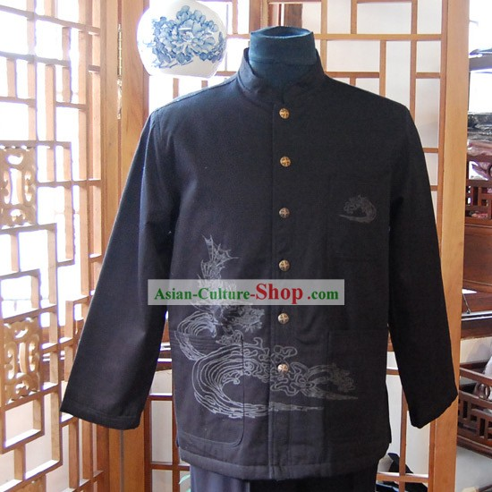 Chinese Classical Traditional Mandarin Blouse for Man-Dragon Emperor