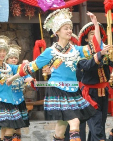 Chinese Miao Minority Clothing and Headdresses