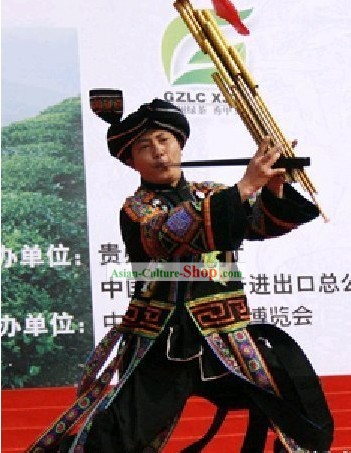 Chinese Traditional Miao Costume Complete Set for Men