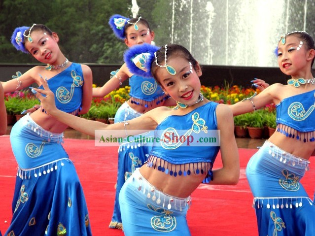 Chinese Traditional Dai Minority Dance Costume for Children