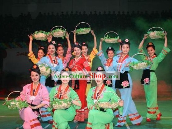 Guilin Liu Sanjie Folk Singer Costume Set