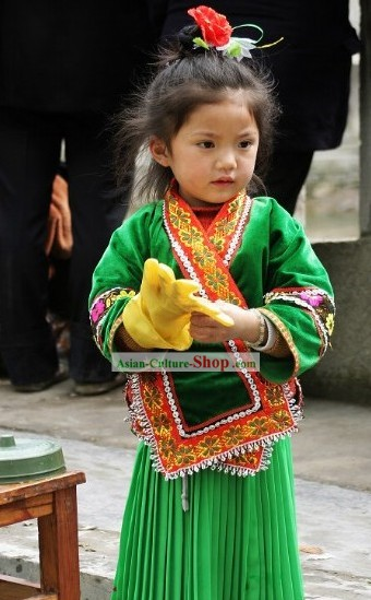 Traditional Chinese Miao Minority Dress for Children