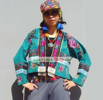 Chinese Stunning Miao Tribe Hand Embroidery Collectible-Frock for Woman