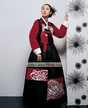 Modern Korean Hanbok Dress for Women