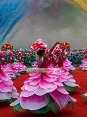 Chinese Peony Dance Costumes Complete Set
