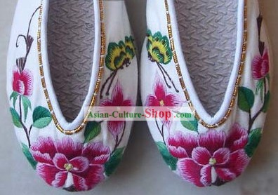 Chinese Hand Made and Embroidery Lotus Shoes