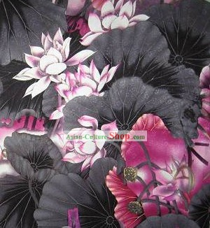 Chinese Classical Lotus Silk Fabric