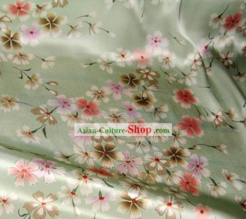 Oriental Cherry Flower Silk Fabric