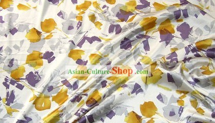 Chinese Classical Silk Flower Fabric