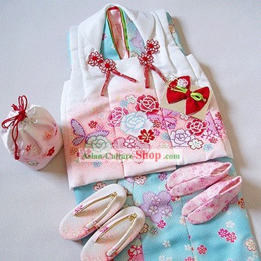 Traditional Japanese Kimono for 3-4 Years Old Children