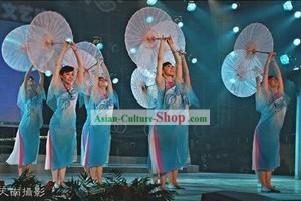 Traditional Chinese Transparent Silk Dance Umbrella