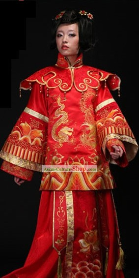 Chinese Classic Wedding Dress for Brides