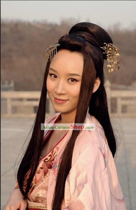 Chinese Classic Beauty Long Wig and Hair Clasp