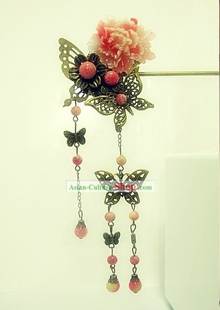 Chinese Classic Handmade Butterfly and Flower Hairpin