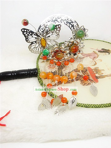 Traditional Chinese Handmade Butterfly Hair Jewelry