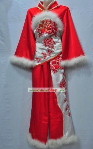 Traditional Chinese Yangge Fan Dance Costumes