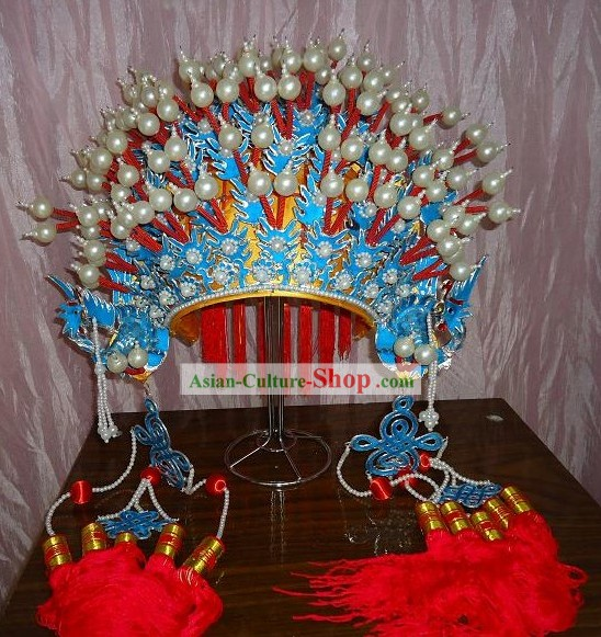 Chinese Peking Opera Butterfly Phoenix Crown for Women