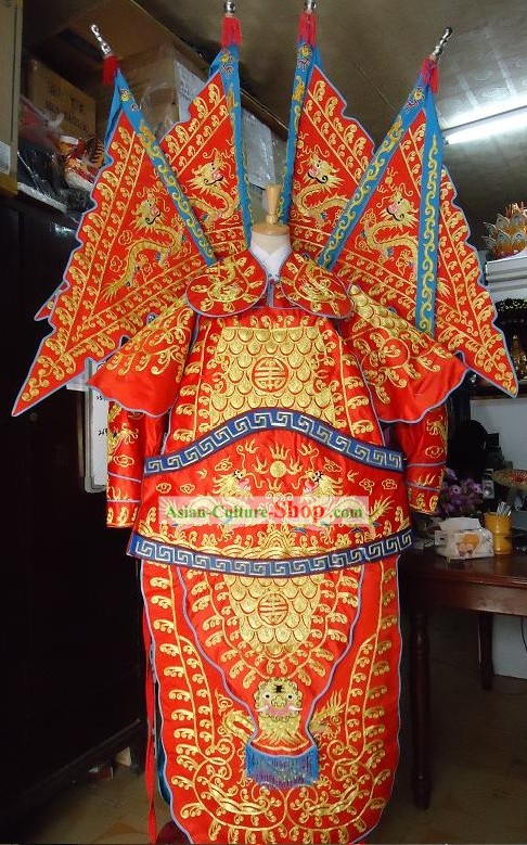 Peking Opera General Armor Costume Complete Set