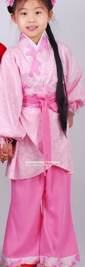 Traditional Chinese Pink Hanfu Clothing for Girls