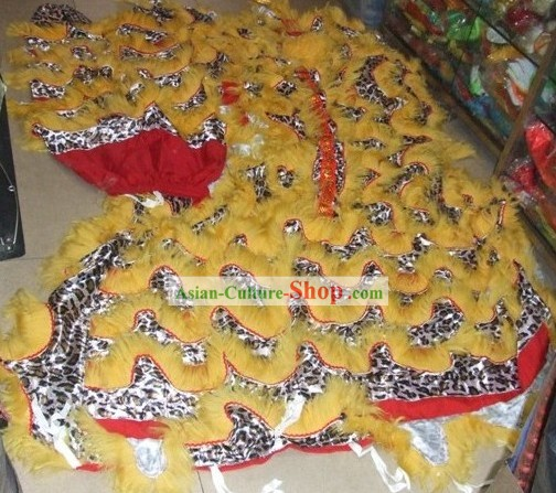 Leopard Pattern Lion Dance Tail, Pants and Claws Set