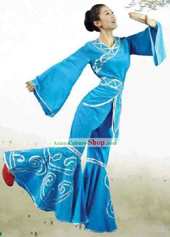 Chinese Classic Blue Dance Costume