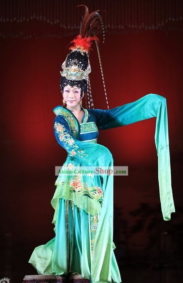 Ancient Beauty Xi Shi Costumes and Headpiece Complete Set