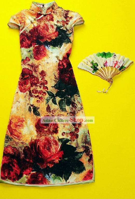 Minguo Period Old Shanghai Silk Qipao for Women