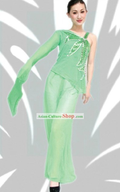 Traditional Chinese Leaf Dance Costume for Women