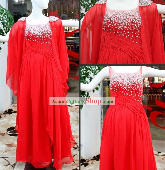 Handmade Chinese Red Wedding Wear for Brides