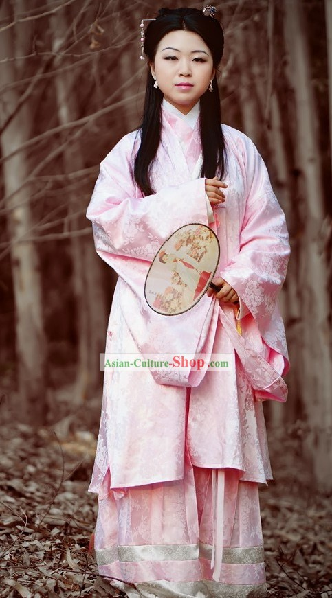 Ming Dynasty Winter Jacket Clothing Complete Set for Women